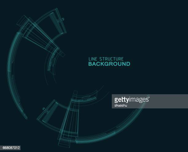 ornament line structure background