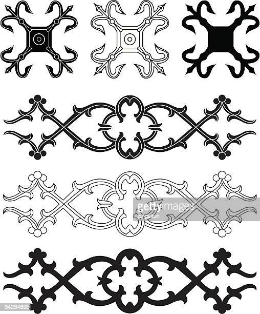 ornament (vector) - gothic style stock illustrations, clip art, cartoons, & icons