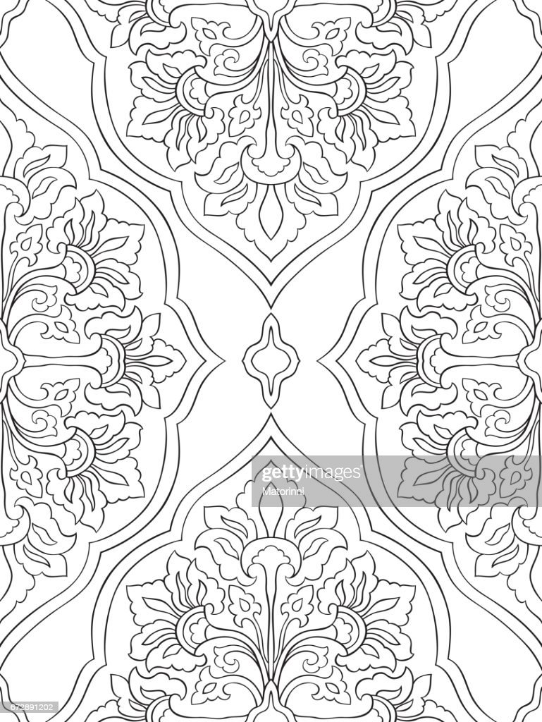 Ornamental abstract pattern.
