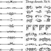 Ornamental borders and flourish corners, royal ornament swirls  vector vintage page dividers