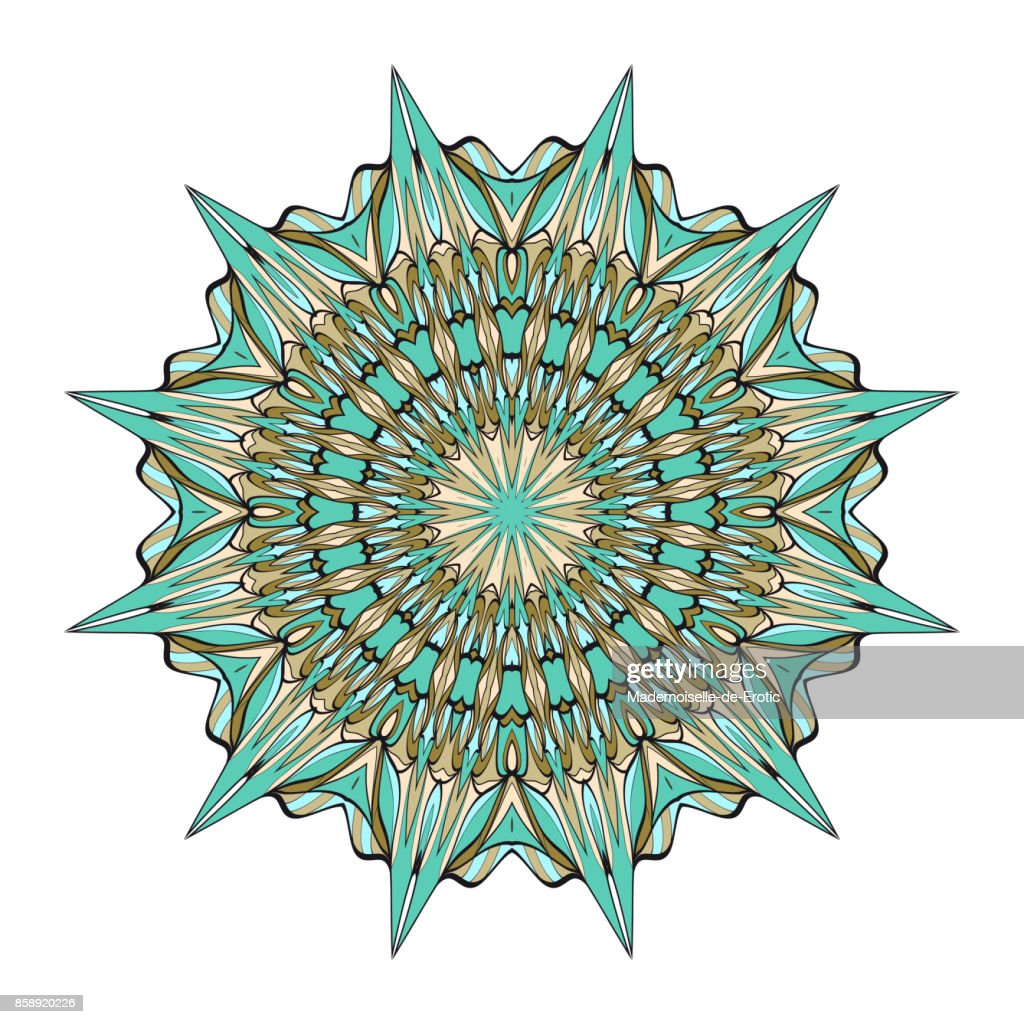 Ornamentale Kreismuster Hand Zu Ziehen Mandala Vintage Dekoelemente ...