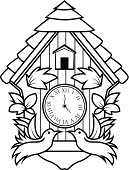 Ornamental cuckoo clock