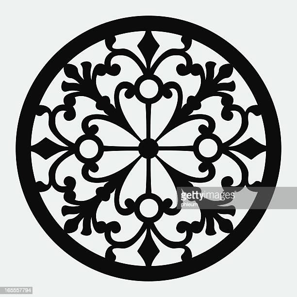 ornamental design - architectural feature stock illustrations, clip art, cartoons, & icons