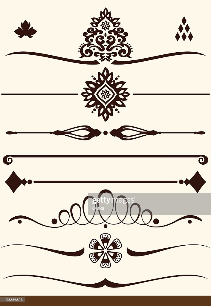 Ornamental dividers and decorations