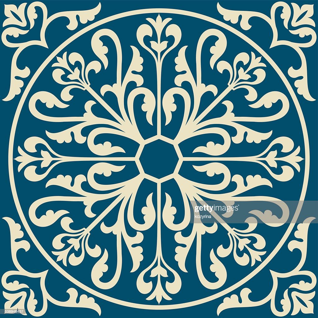 Ornamental floral element for design