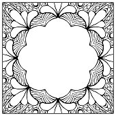 Ornamental floral frame with space for text, greeting card template