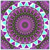 ornamental floral pattern for fashion print. Ethnic mandala decoration. For fashion print, bandanna, tablecloth, neck scarf
