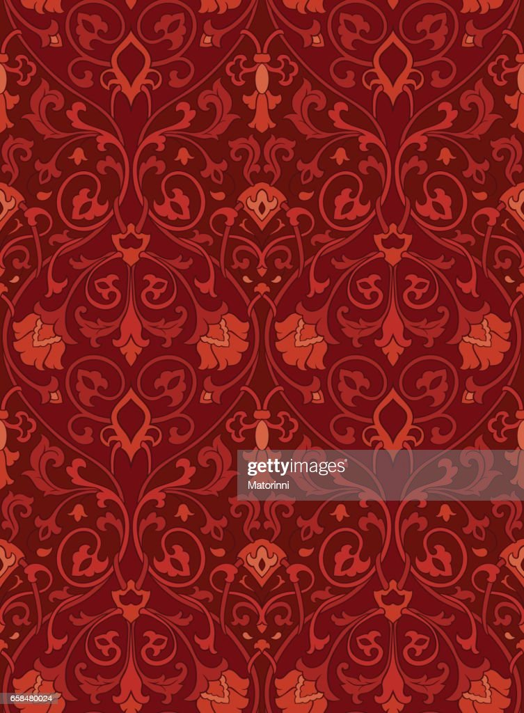 Ornamental floral pattern.