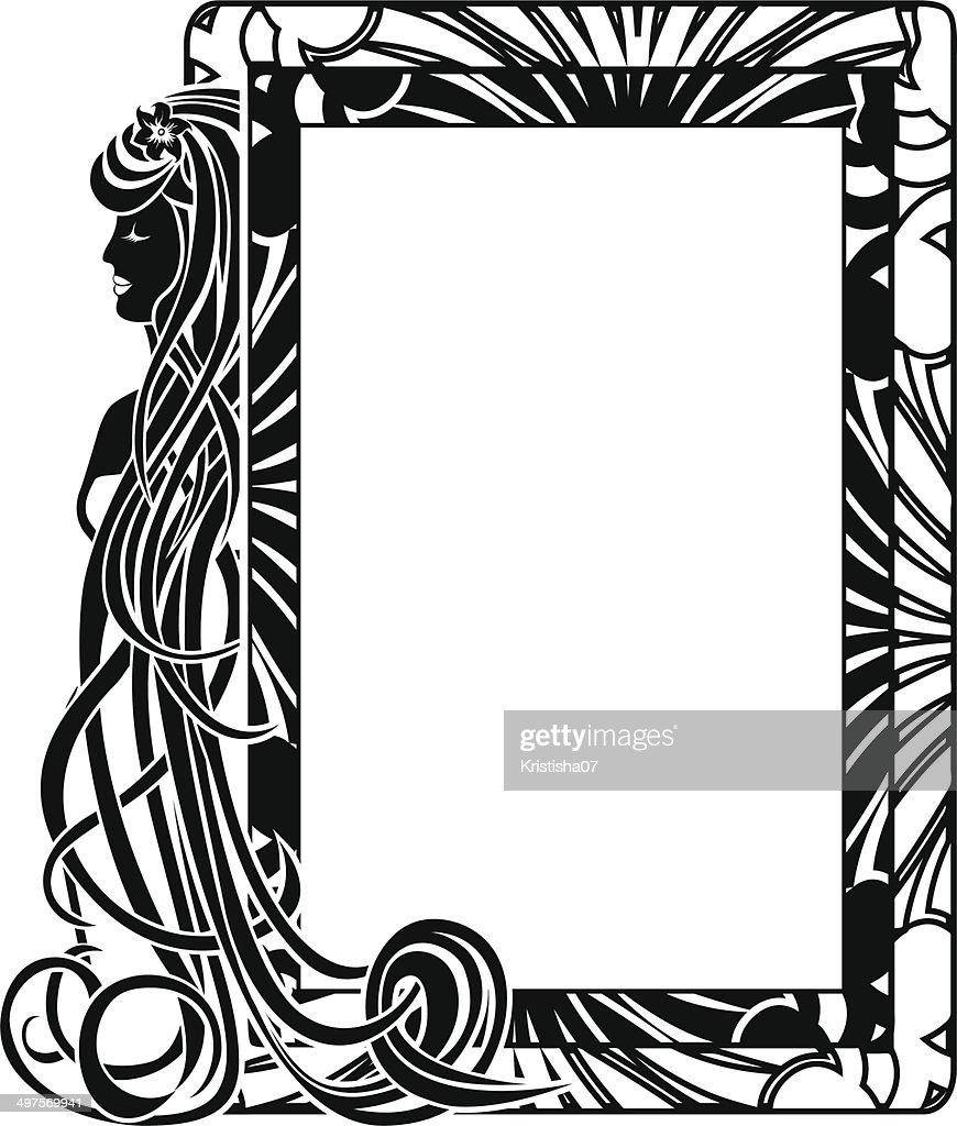 Ornamental frame in style Art Nouveau