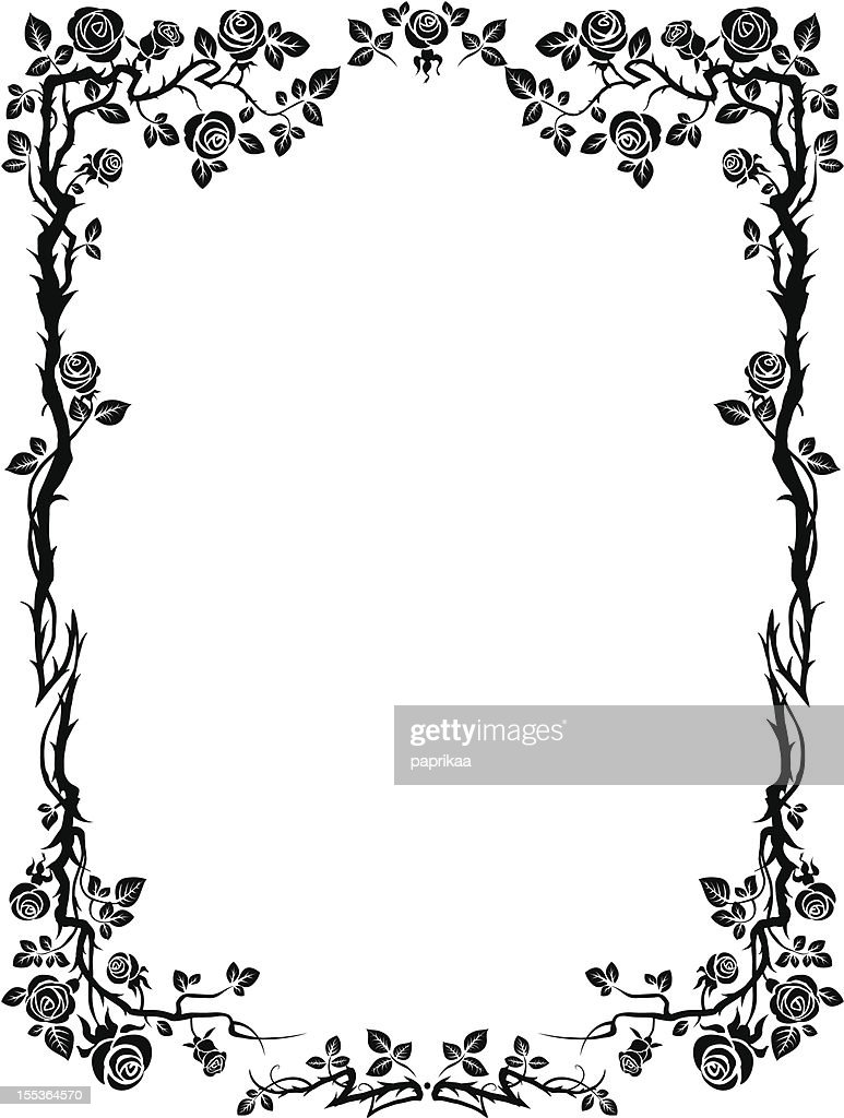Ornamental frame with roses