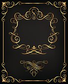 Ornamental Golden Calligraphic Frame