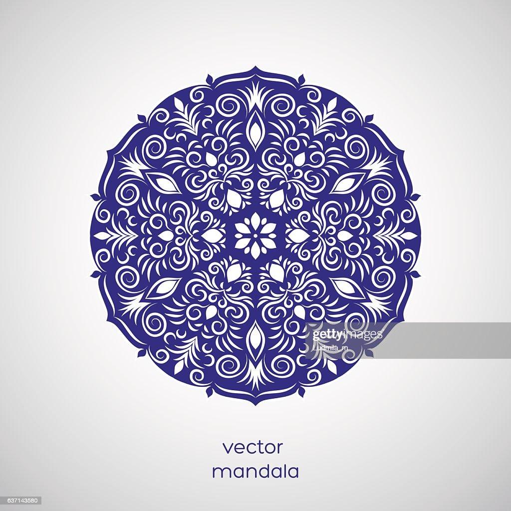 Ornamental hand drawn flower oriental mandala