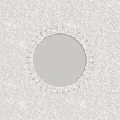 ornamental lace frame, circle background with many details