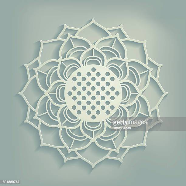 Ornamental lotus flower (Paper cut)