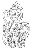 Ornamental mythical panther.