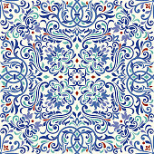 Ornamental pattern vector seamless