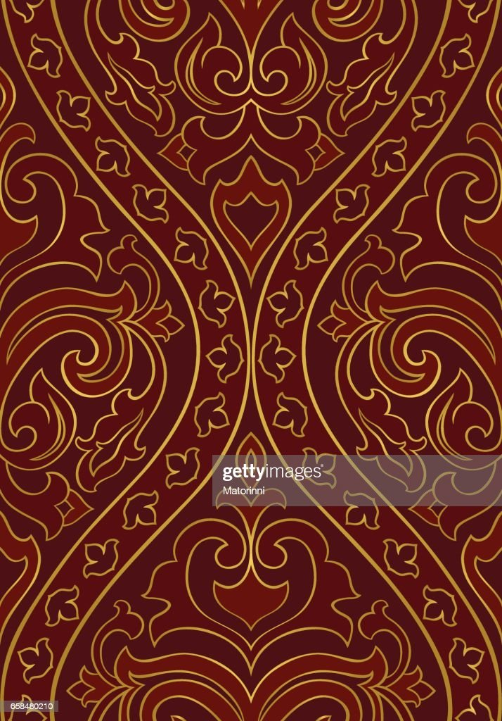 Ornamental red pattern.