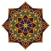 Ornamental simple mandala.