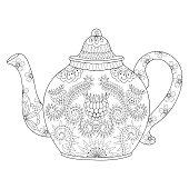 Ornamental teapod to make a tea, hot beverage