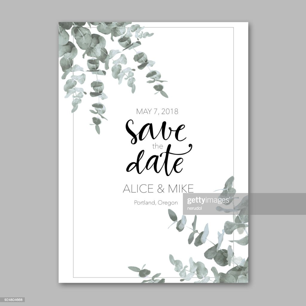 Ornamental template with invitation