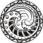 Ornaments in the style of the Maori