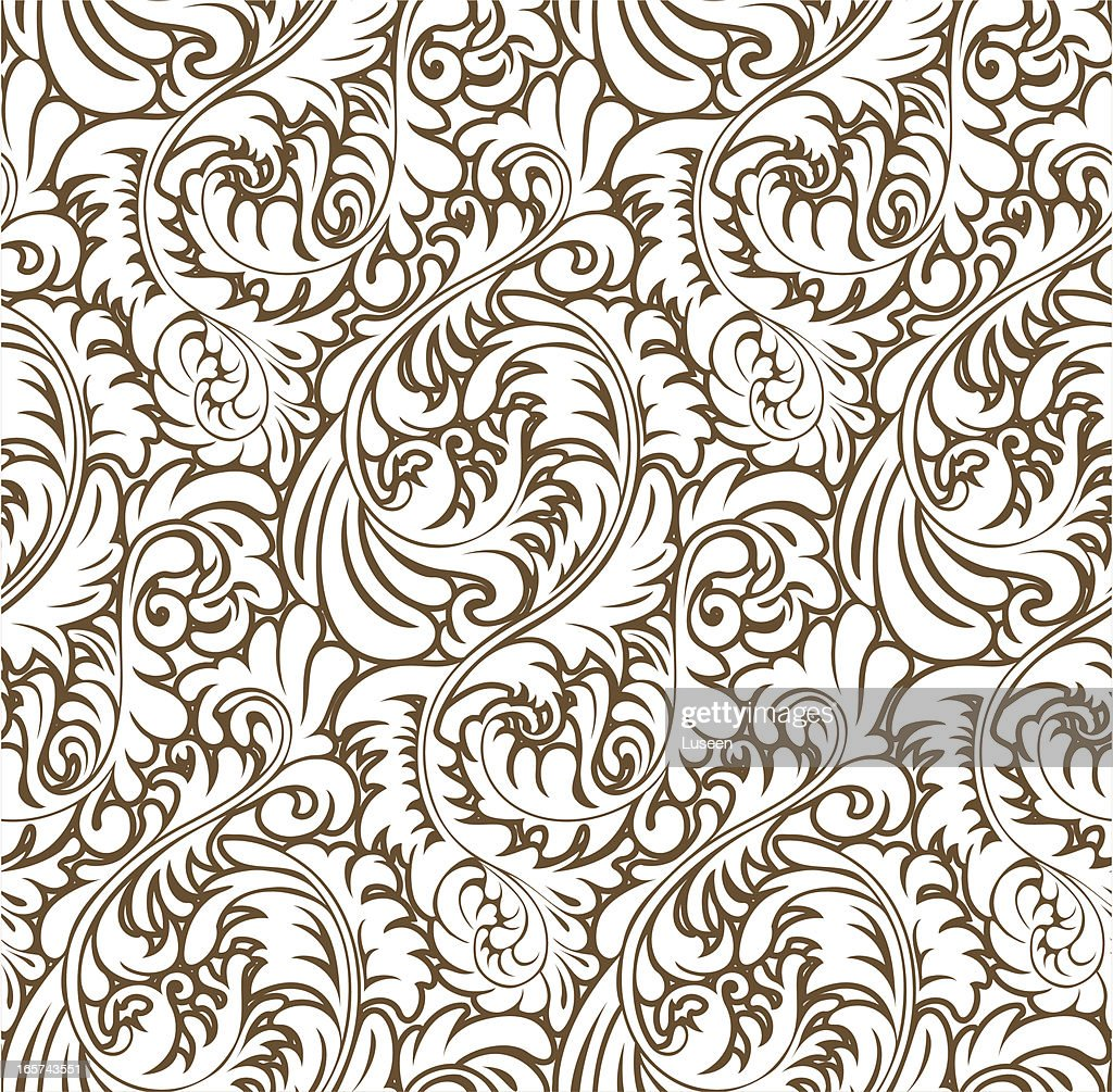 Ornate Abstract Baroque Pattern (Seamless)