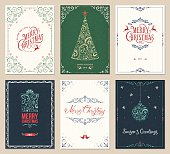 Ornate Christmas Greeting Cards Set