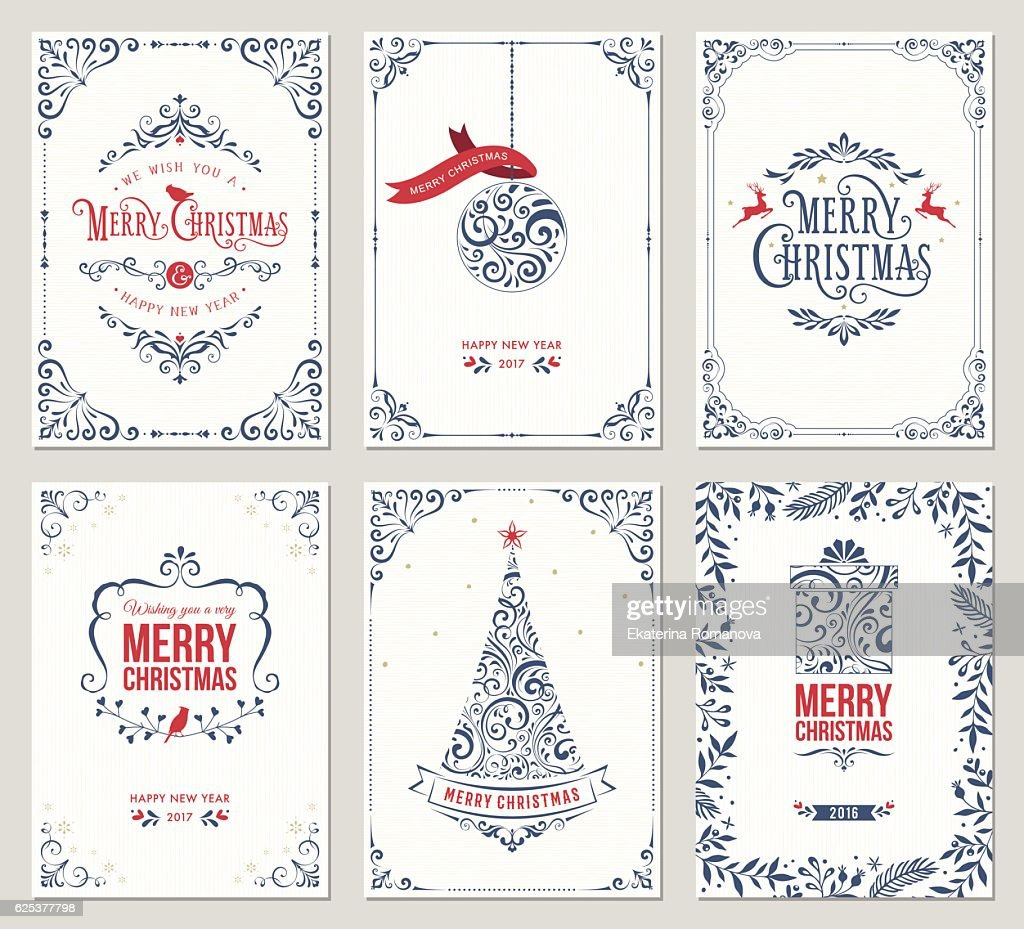 Ornate Christmas Greeting Cards