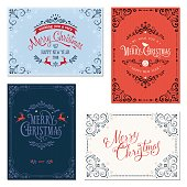 Ornate Christmas Greeting Cards