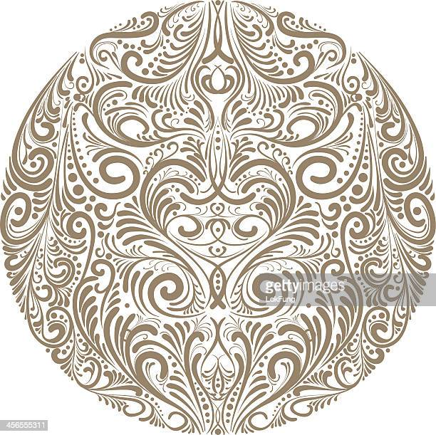 ornate circle - illustration - art nouveau stock illustrations, clip art, cartoons, & icons