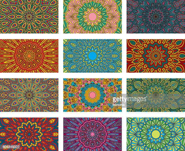 Ornate Circular Mandala Multicolored Designs