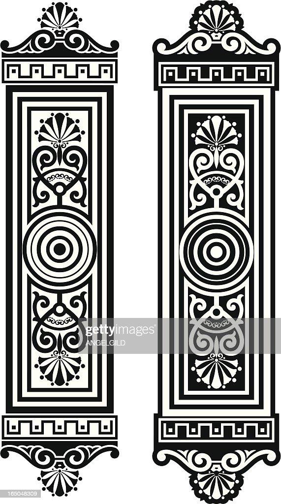 Ornate Door Plates