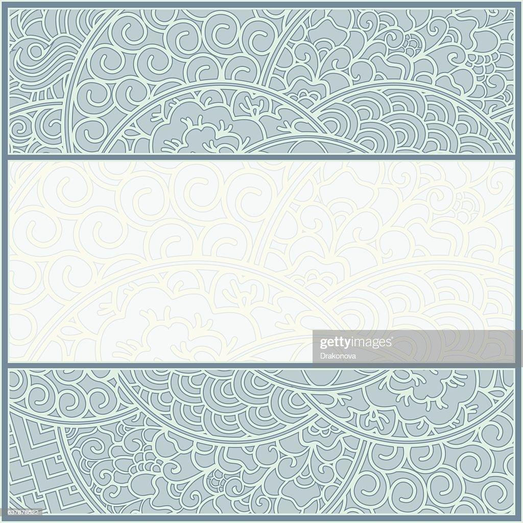 Ornate drawn frame border