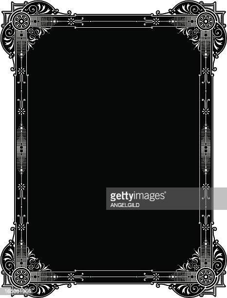 ornate elaborat panel design - store sign stock illustrations