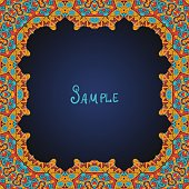 Ornate frame border with a lot of copyspace