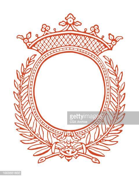 ornate frame enclosure - royalty stock illustrations