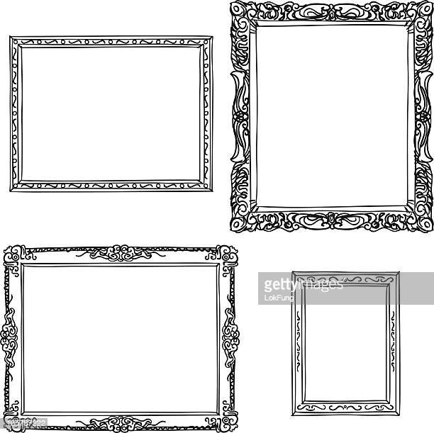ornate frame in sketch style - framing stock illustrations, clip art, cartoons, & icons