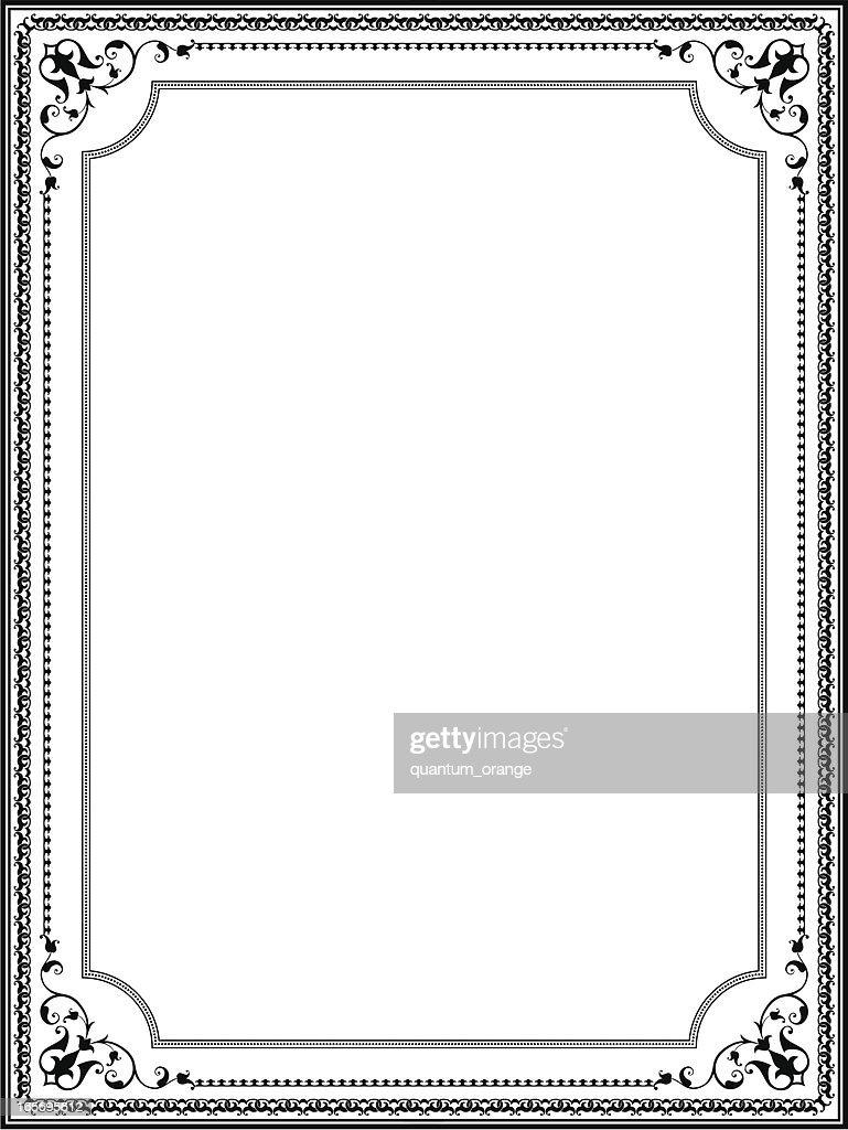 ornate frame vector art getty images
