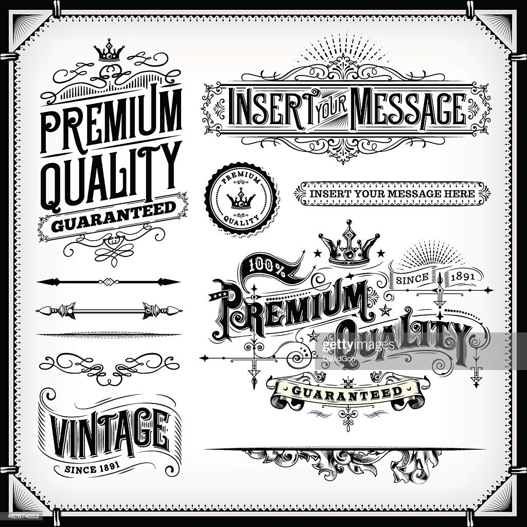 Ornate Frames and Banners : stock illustration