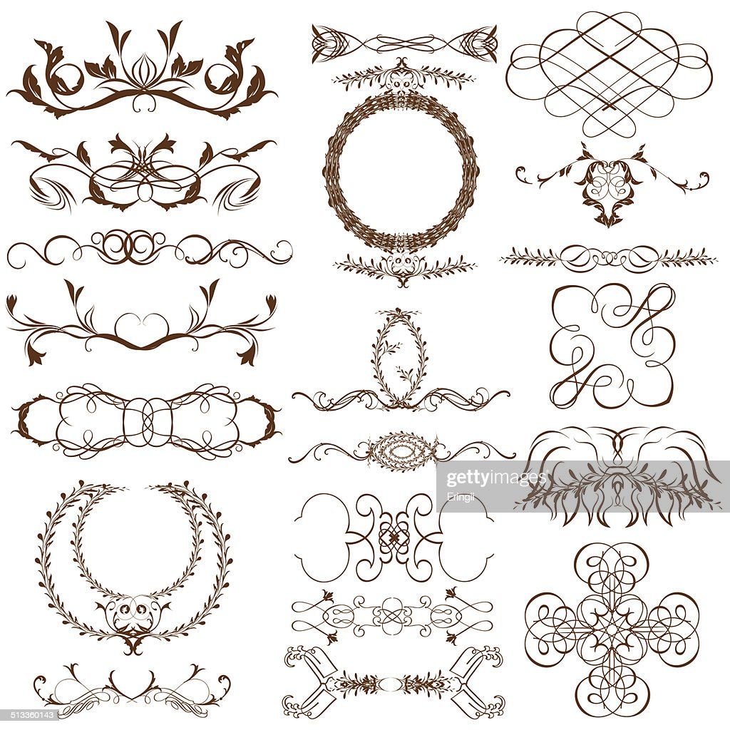 Ornate Frames And Scroll Elements Vector Art | Getty Images