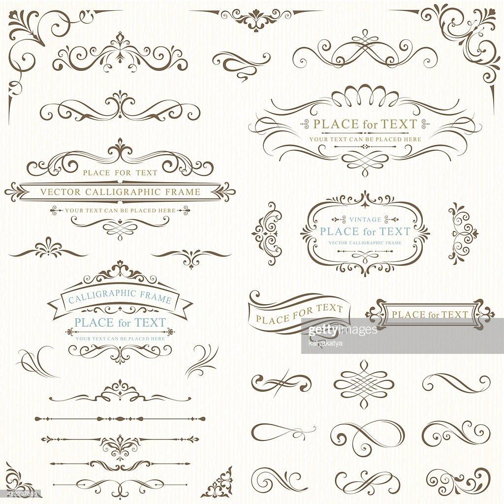 Ornate frames for text
