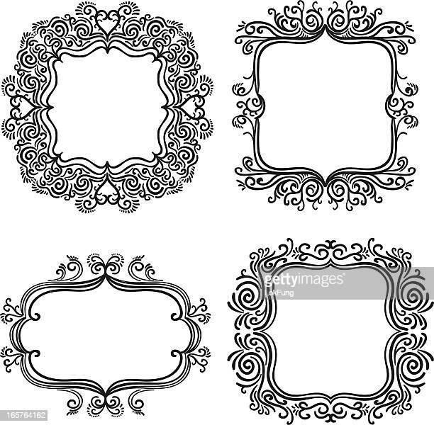 Verzierten Rahmen in Schwarz