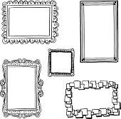 Ornate frames in sketch style