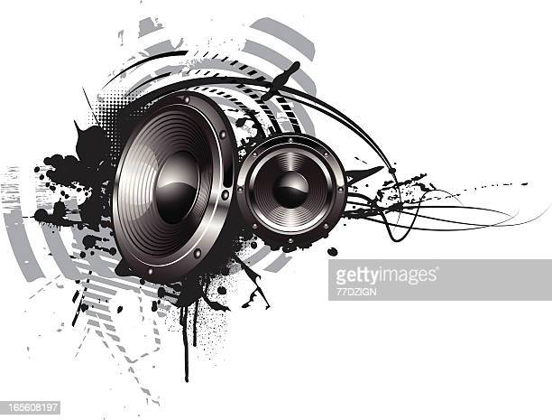 ornate frequency - computer speaker stock illustrations, clip art, cartoons, & icons