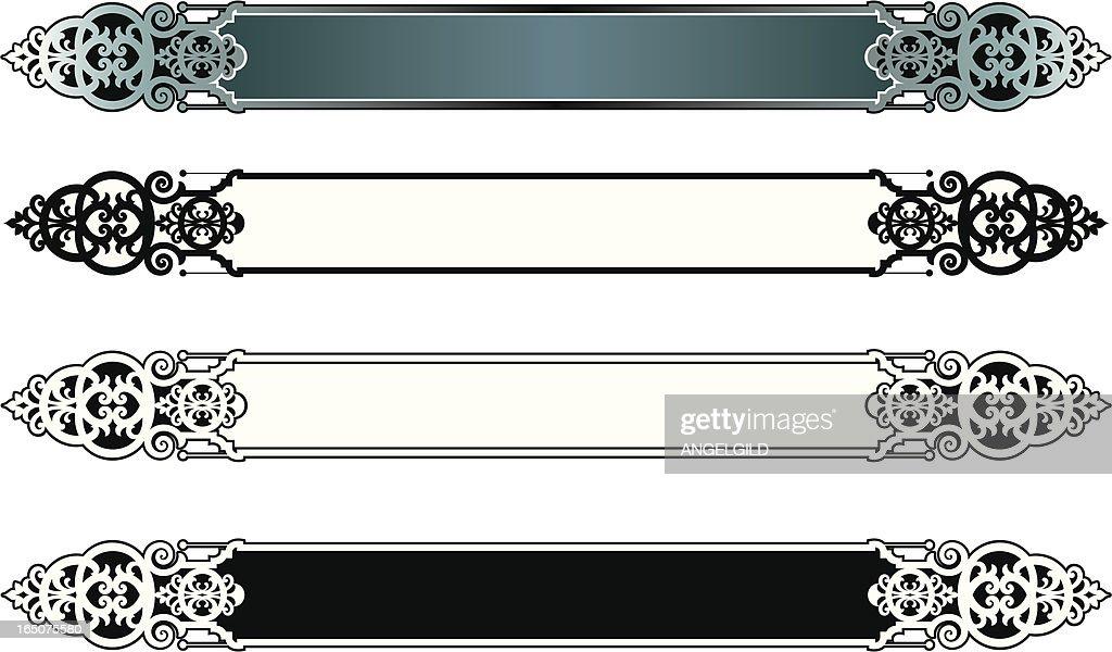 Ornate lettering Plates