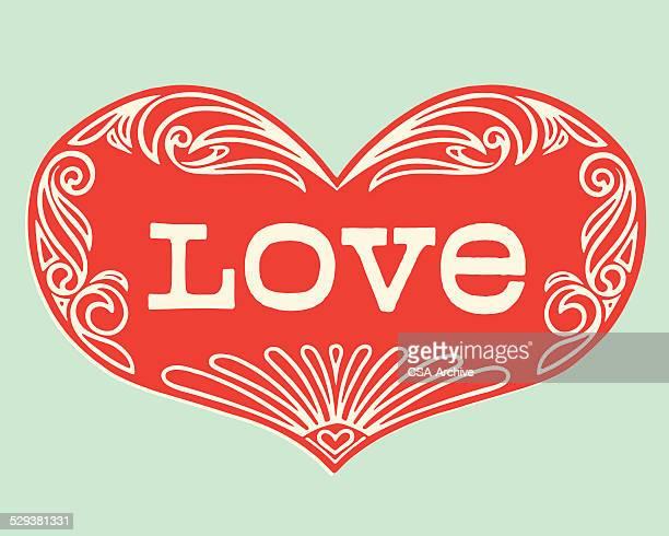 Ornate Love Inside Heart