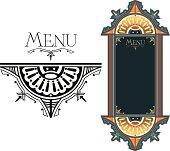 Ornate Menu design