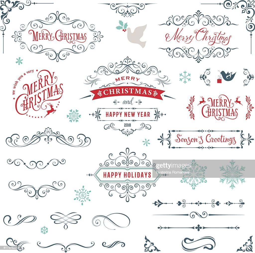 Ornate Merry Christmas Collection