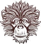 Ornate Monkey Head