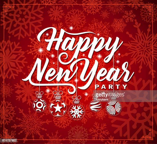 ornate new year party card